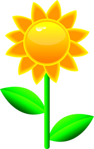 Sunflower Clipart Image.