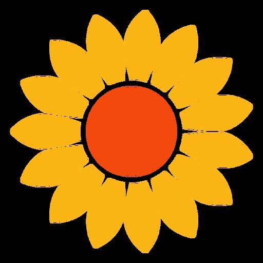 Flat sunflower head vector.