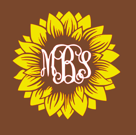 Sunflower Monogram SVG.