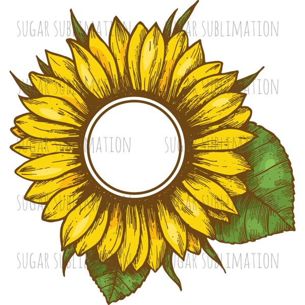 Monogram Sunflower.