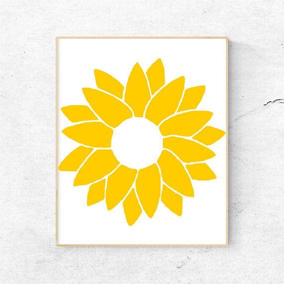 Sunflower Monogram Svg Files for Cricut Svg Files, Flower.