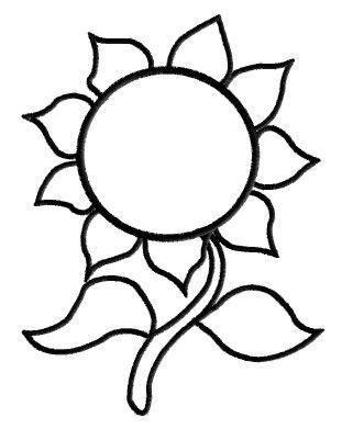 Sunflower Outline Pattern.
