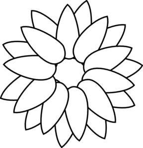 Sunflower Outline Clip Art at Clker.com.