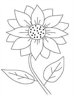 Sunflower outline clipart 4 » Clipart Portal.