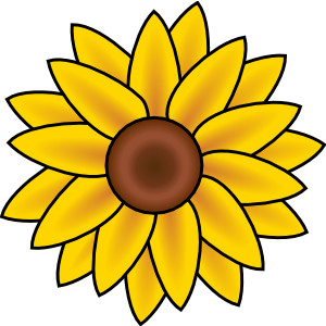 Sunflower clip art.
