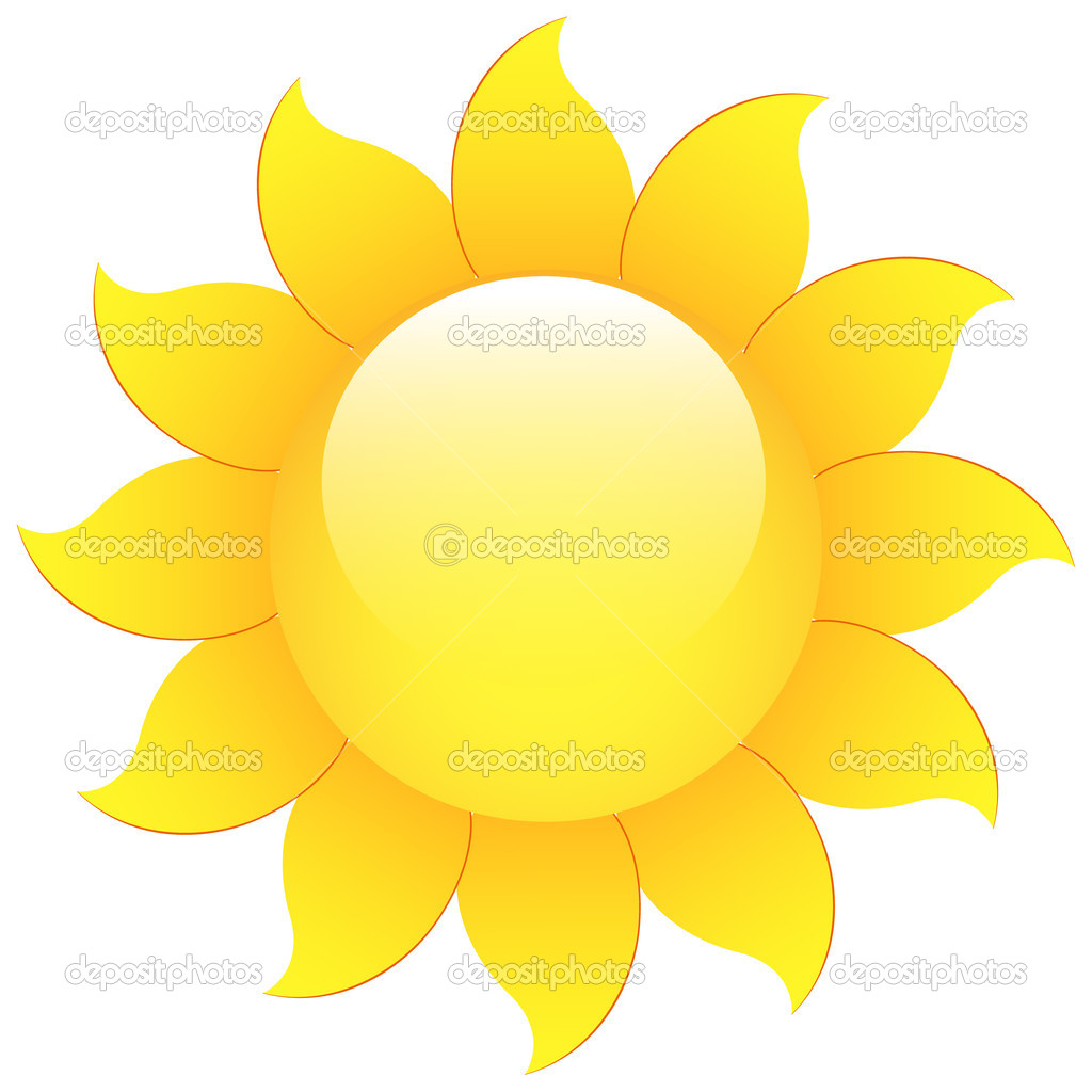 Glossy Vector Sunflower — Stock Vector © baavli #7132200.