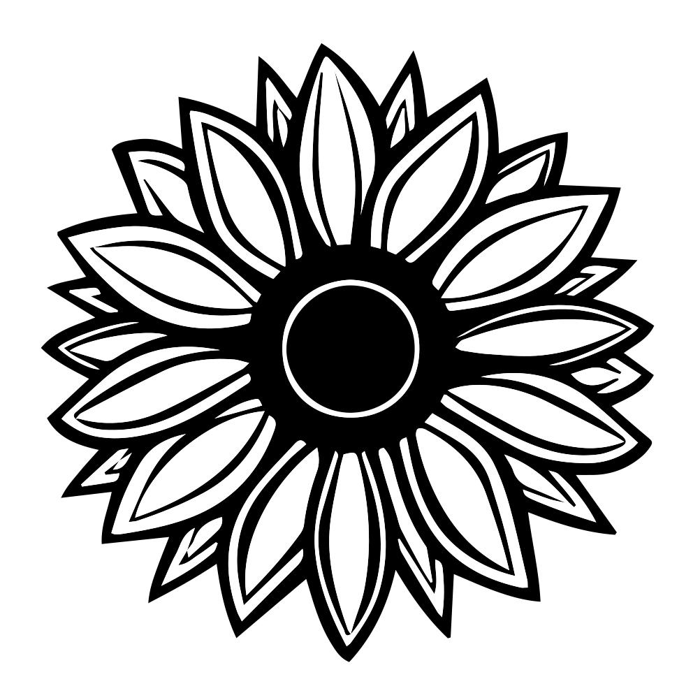 Silhouette Sunflower.