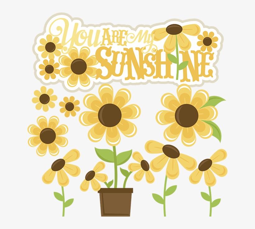 You Are My Sunshine Svg Files Sunflower Svg Cut File.
