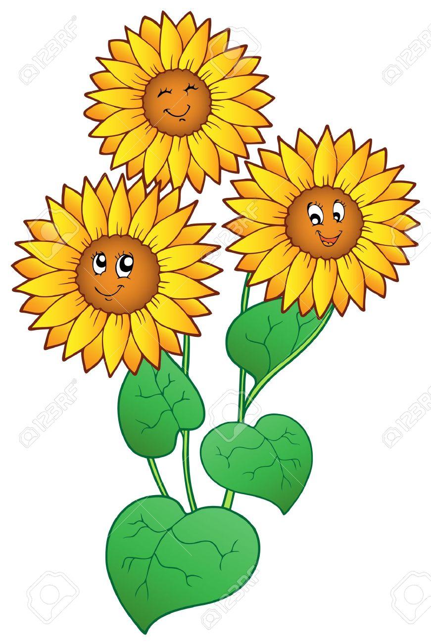 Sunflowers Clipart.