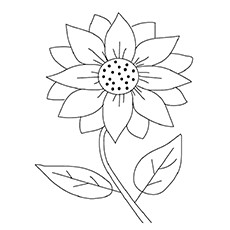 15 Beautiful Sunflower Coloring Pages For Your Little Girl.