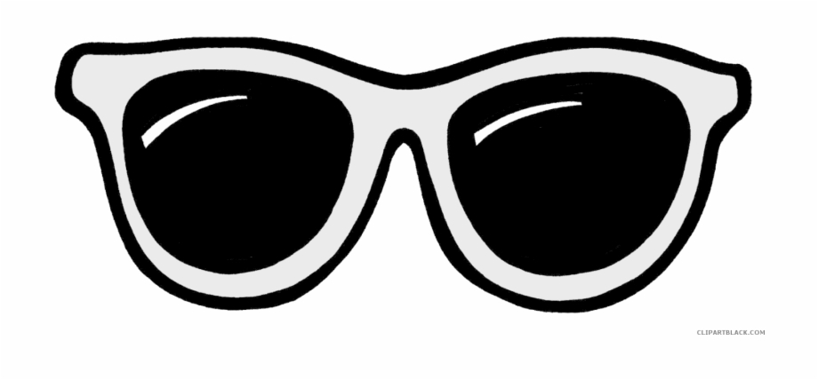 Sun Glasses Svg Transparent Black And White.