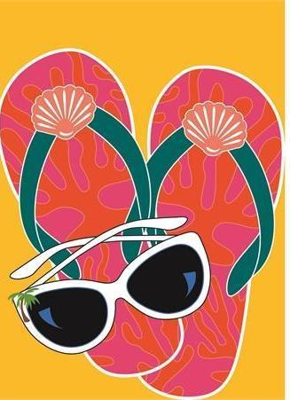 Sunglasses clipart flip flop, Sunglasses flip flop.