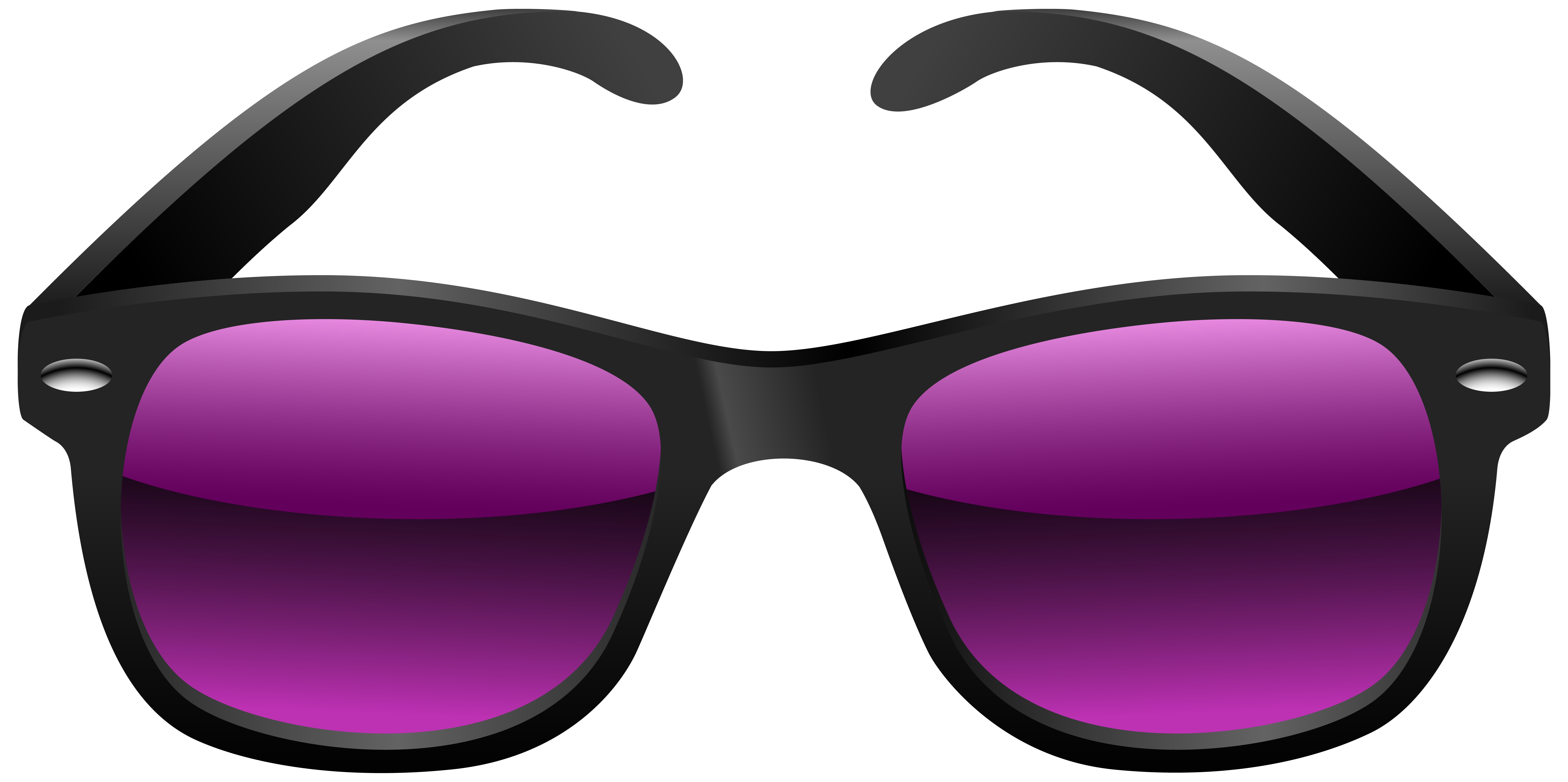 Black and Purple Sunglasses PNG Clipart Image.