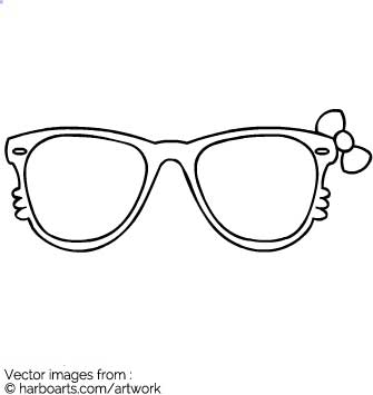 Download : Hello Kitty Sunglasses outline.