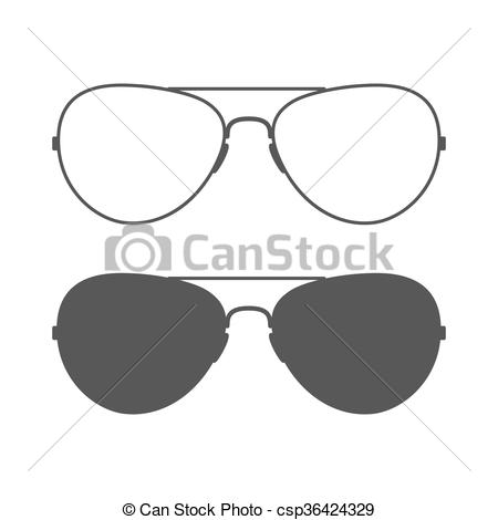 Vector Illustration of Aviator sunglasses icon.