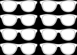 Sunglasses Outline Clip Art at Clker.com.