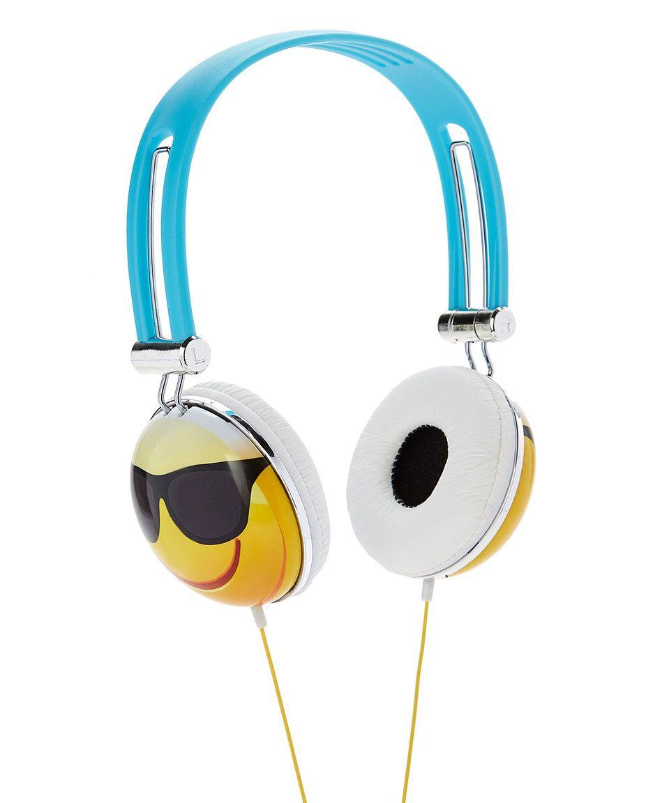 Look at this #zulilyfind! Sunglasses Face Emoji Headphones.