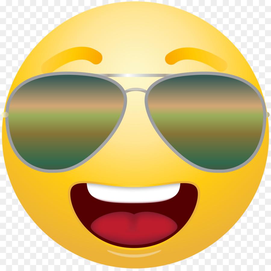 Sunglasses Emoji clipart.