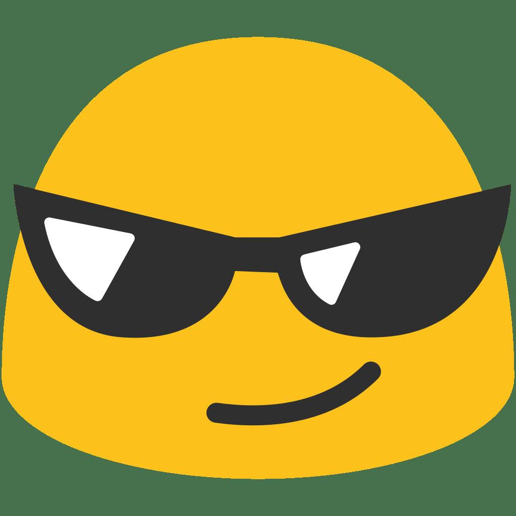 Sunglasses Emoji transparent PNG.