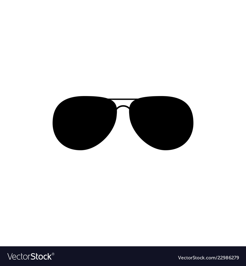 Black fashion sunglasses isolated clipart black.
