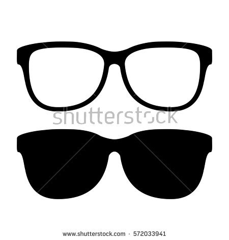 sunglasses outline clipart black reflection - Clipground