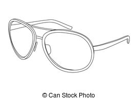 Vector Illustration of sunglasses.