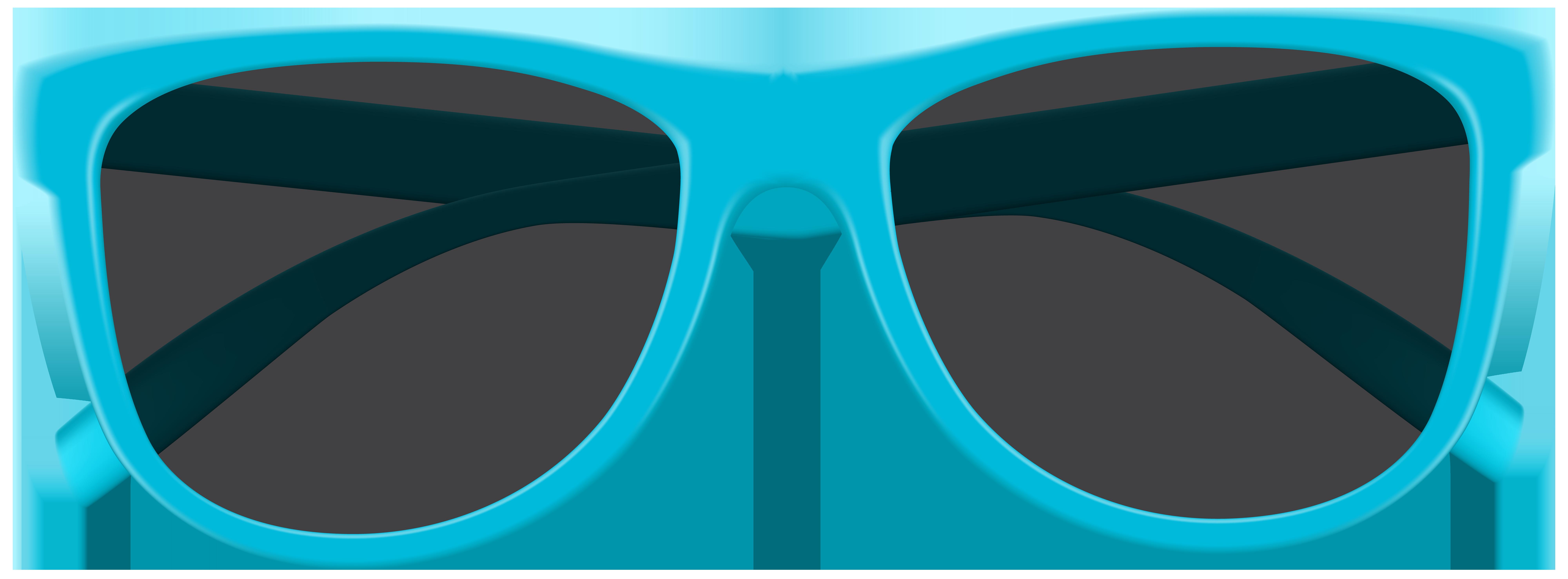 Blue Sunglasses PNG Clip Art Image.
