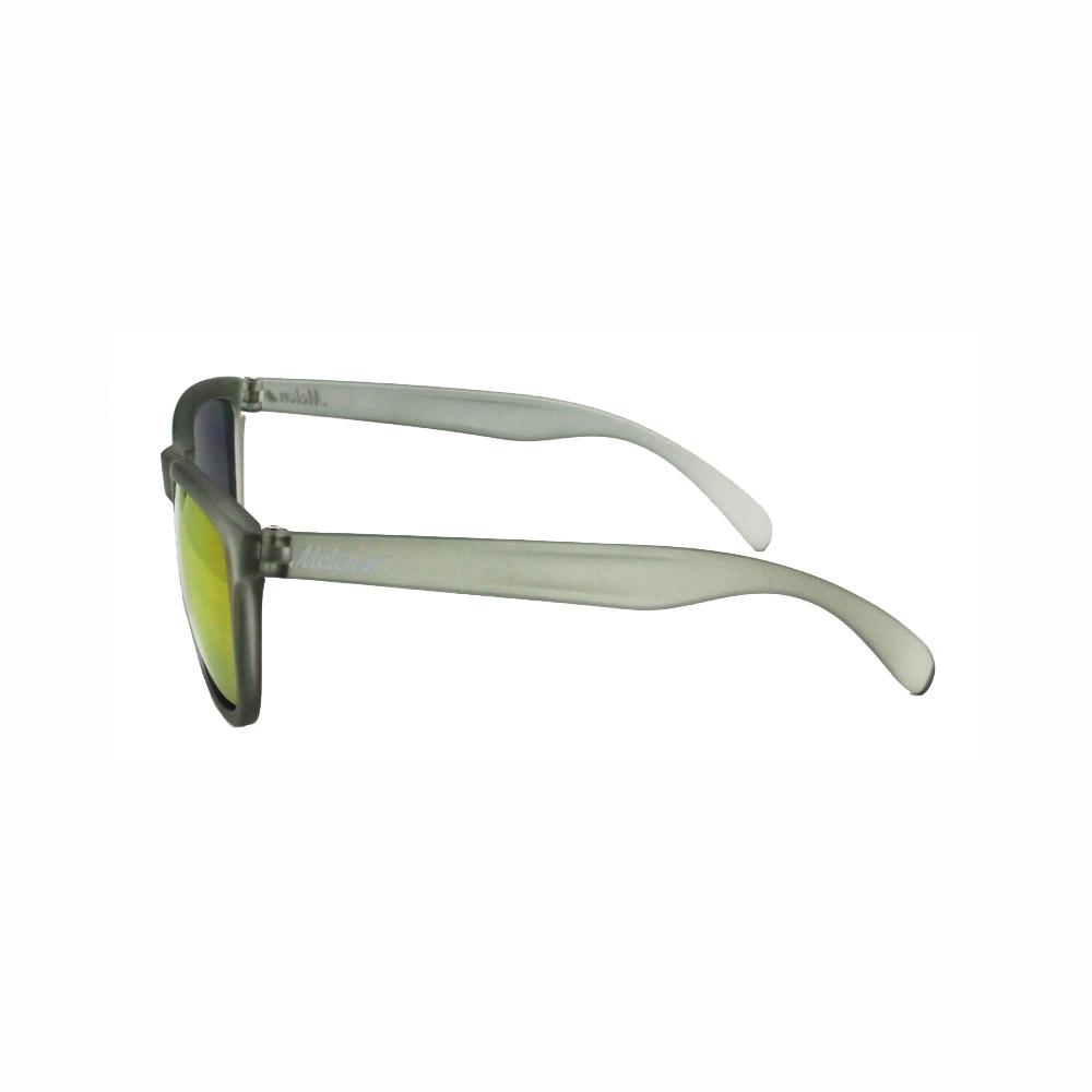 Slate melon sunglasses side view.