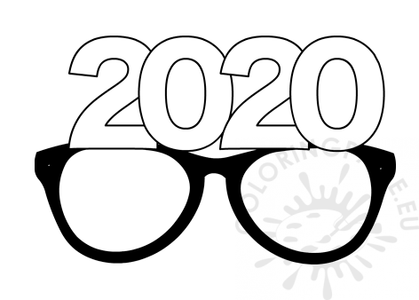 Party glasses New Year 2020.