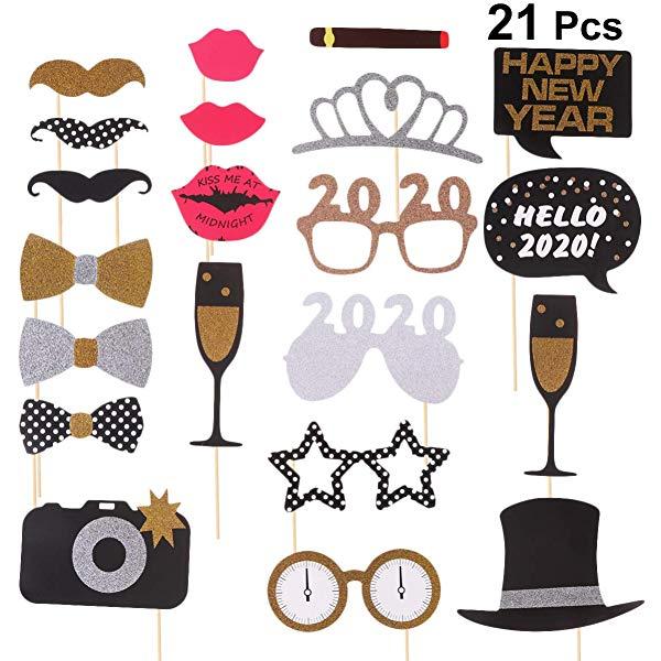 Amosfun Happy New Year Eyeglasses 2020 Party Sunglasses 2020.