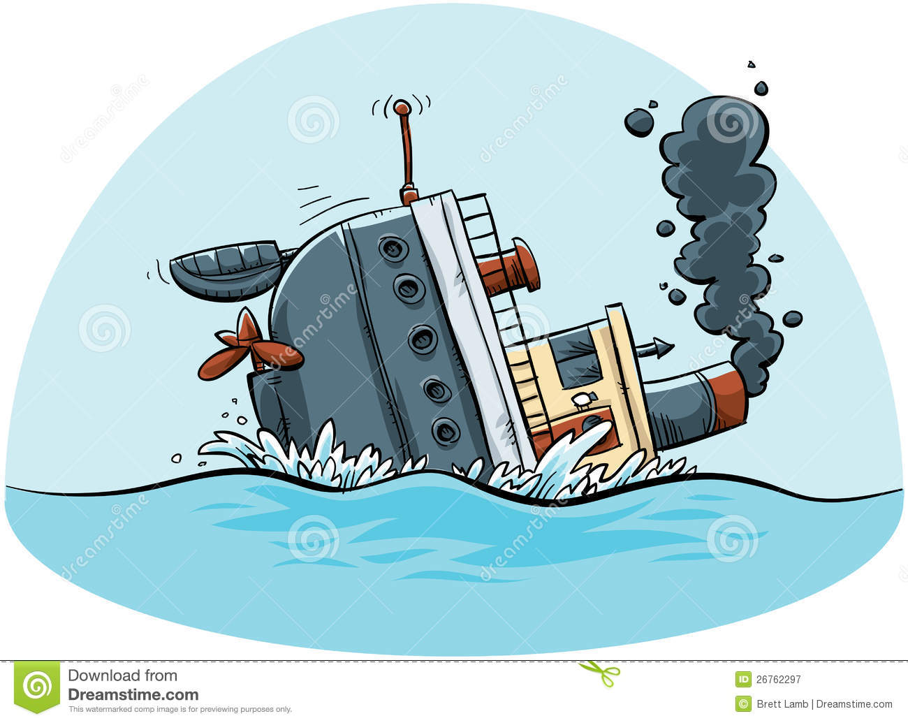 Sinking Ship Stock Illustrations.
