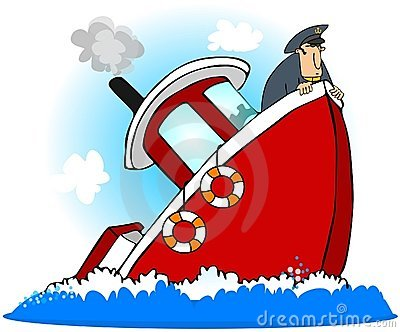 Sinking Boat Stock Illustrations.