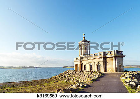 Stock Photograph of Partly submerged church k8169569.