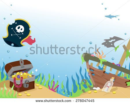 Image result for sunken pirate ship clipart.
