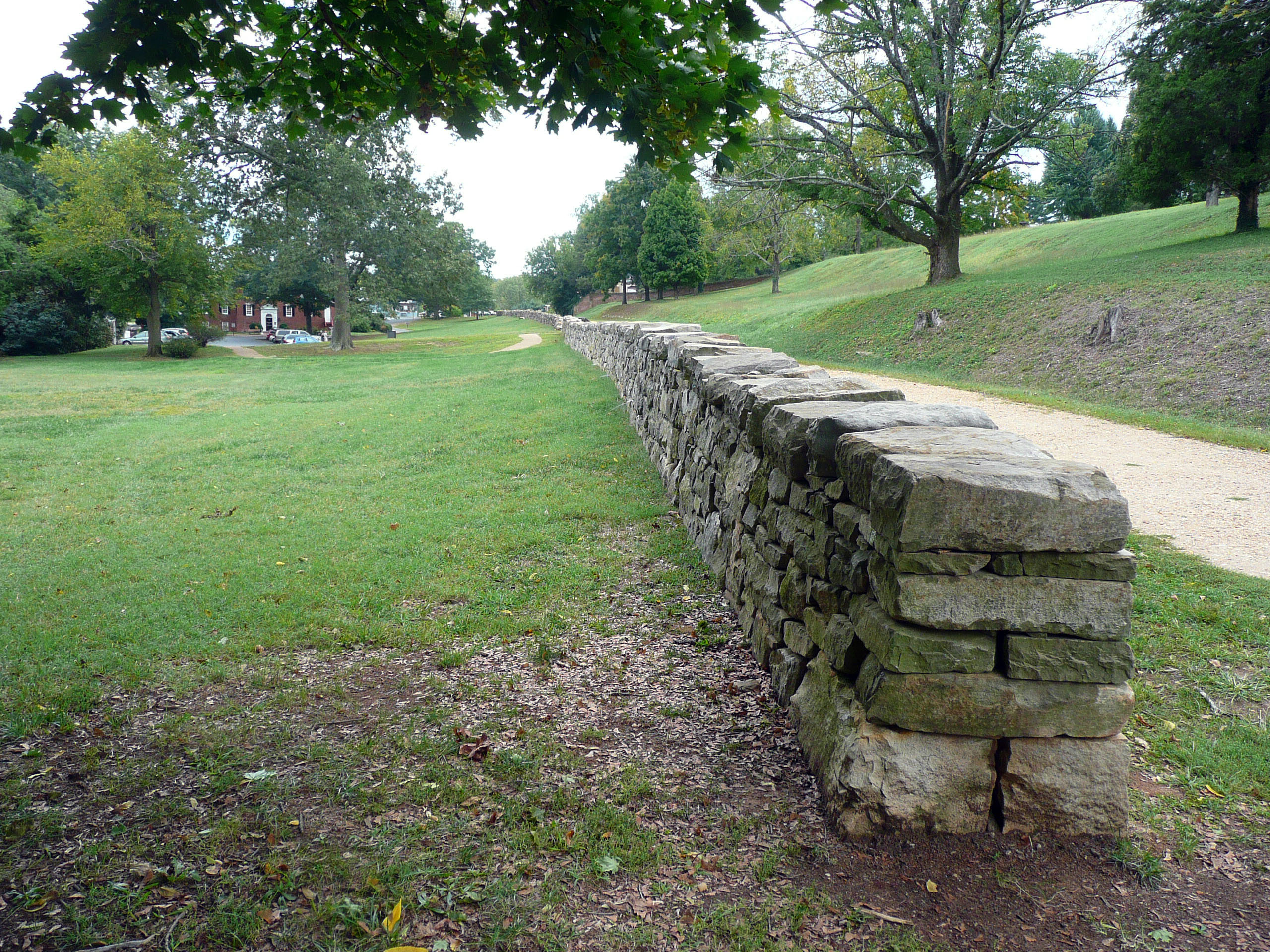 The sunken road at Marye's Heights at the battle of Fredericksburg.