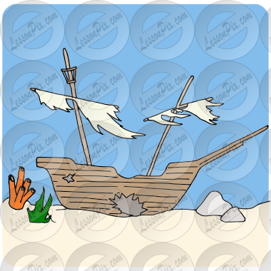 Sunken Ship Picture for Classroom / Therapy Use.