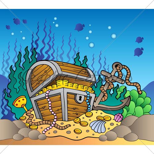 Treasure clipart underwater, Treasure underwater Transparent.