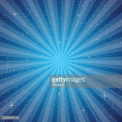 Blue sun ray vector Clipart Image.