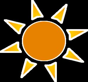Sun Clipart Logo.
