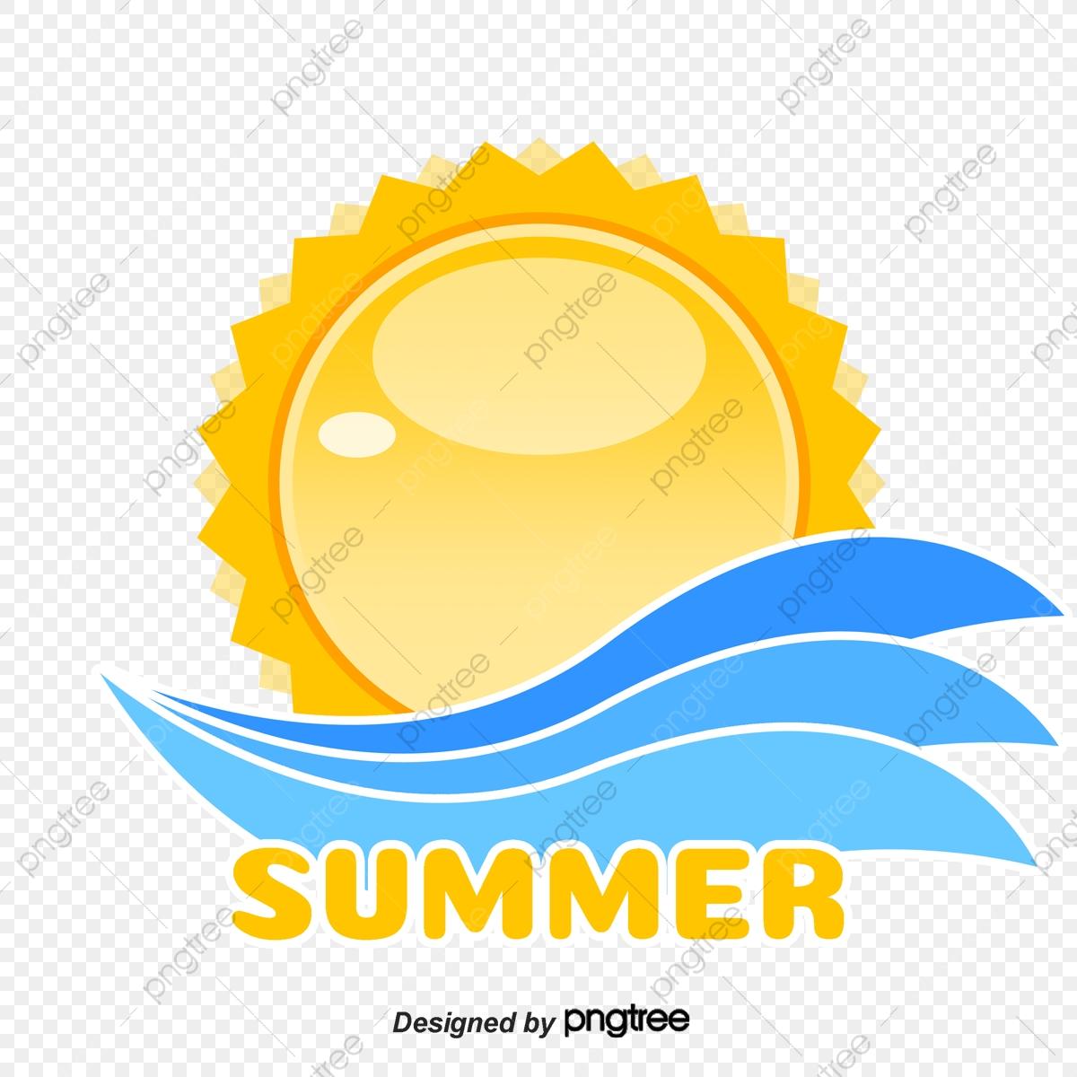 Summer Sunny Beach Holiday Logo, Logo, Sunlight, Sunny.