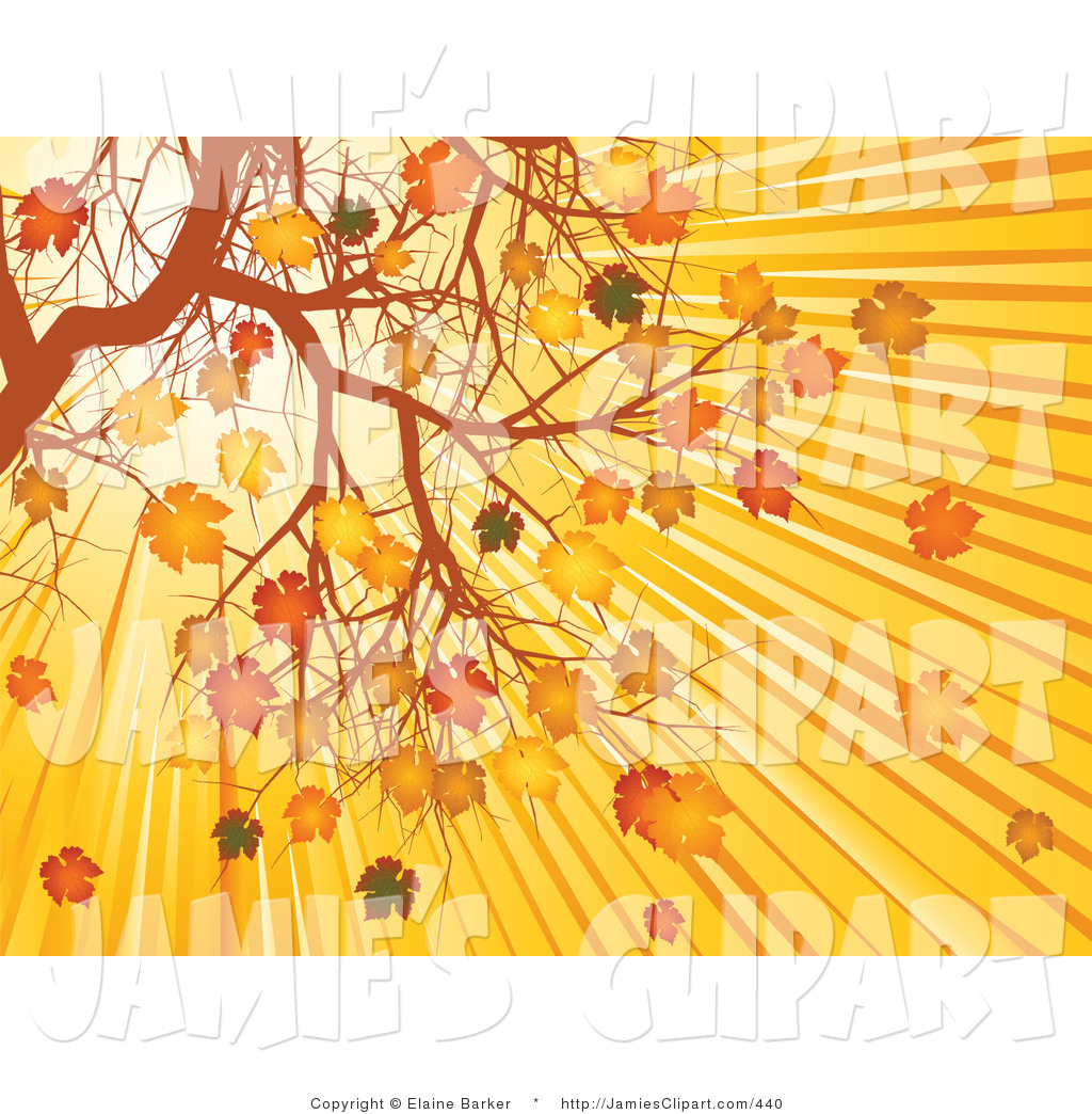 Clip Art of Bright Rays of Sunlight in the Morning Sunrise.