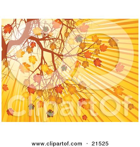 Clipart Illustration of Bright Sunlight In The Morning Sunrise.