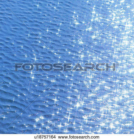 Stock Photo of Sunlight reflected on water surface u18757164.