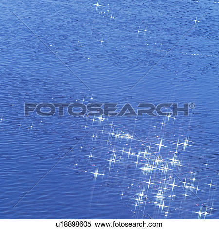 Stock Image of Sunlight reflected on water surface u18898605.