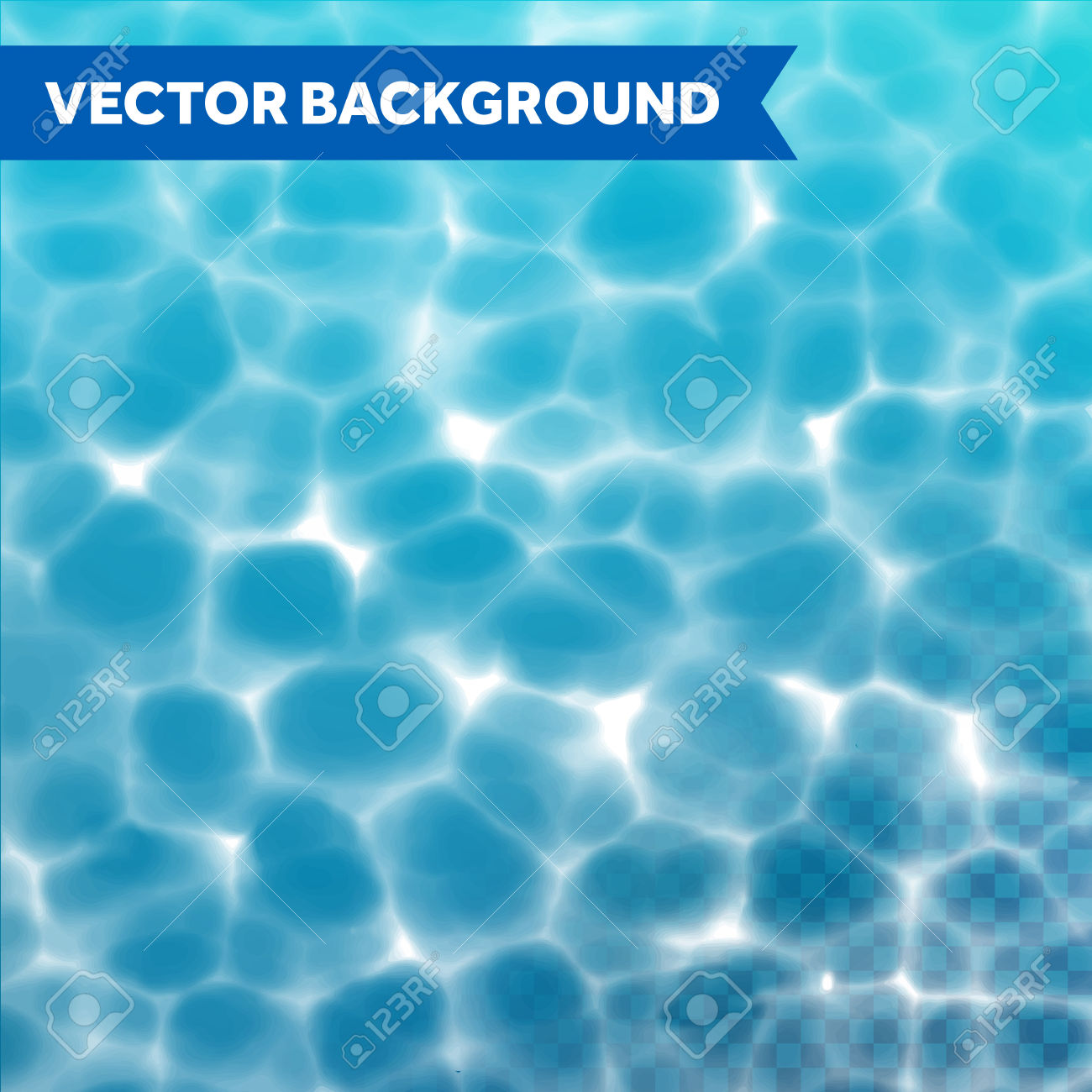 Vector Water Texture Background With Sunlight Reflections On.