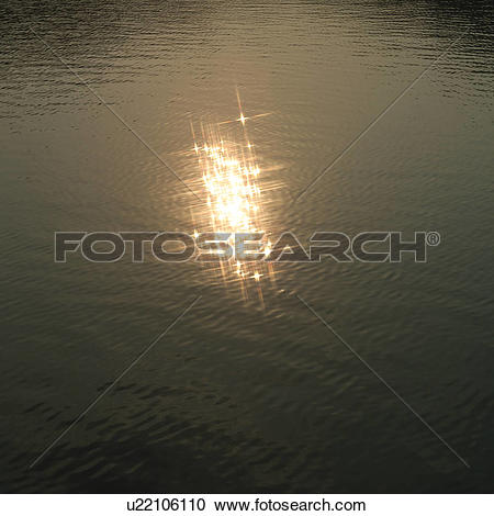 Stock Photography of Sunlight reflected on water surface u22106110.