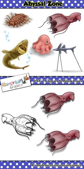 Sea Animals Clip art.