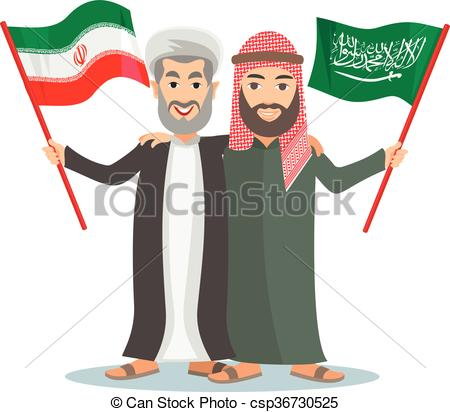 Vector Illustration of arab,Sunni and Shia.