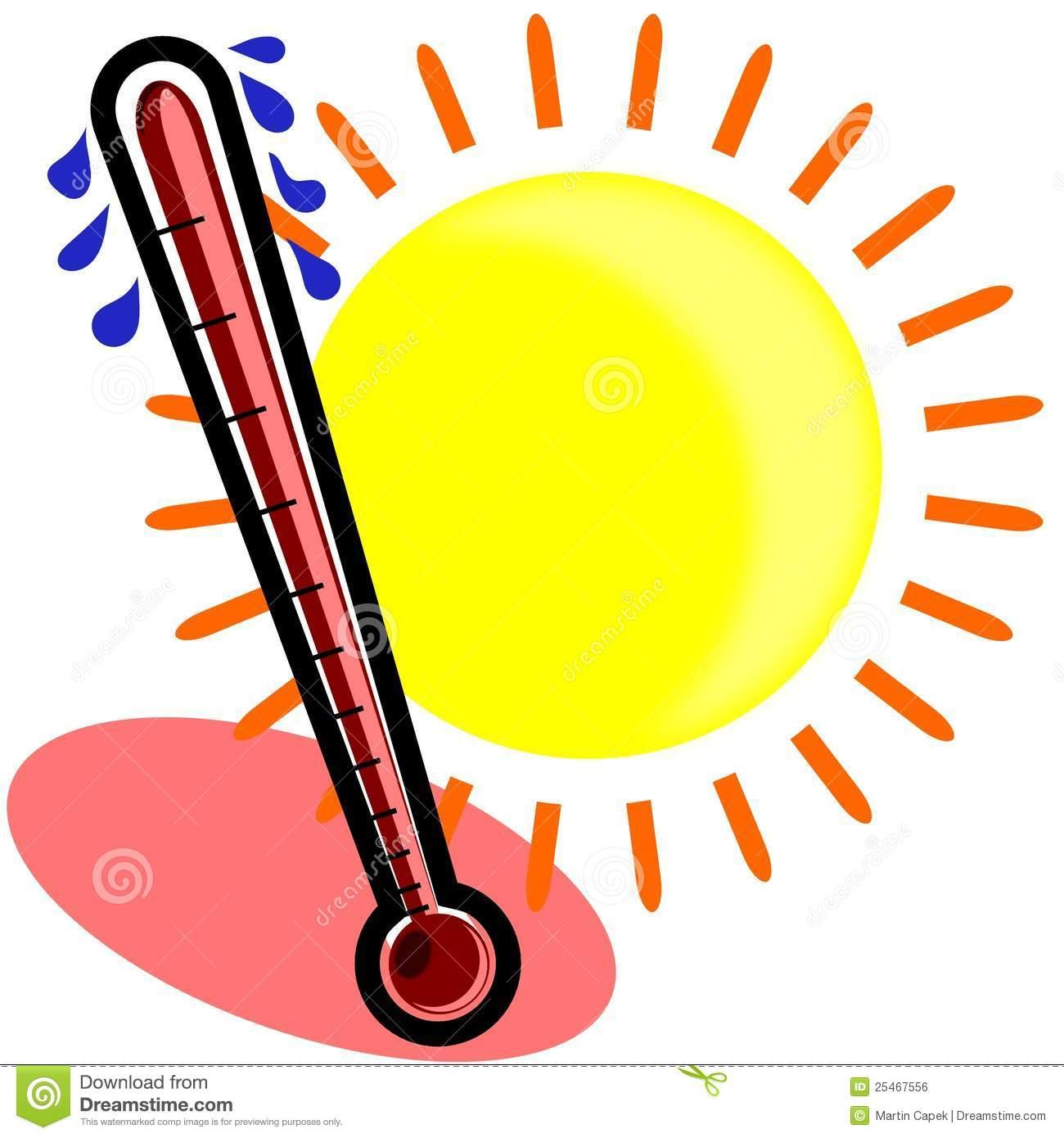 Hot And Sunny Clipart.