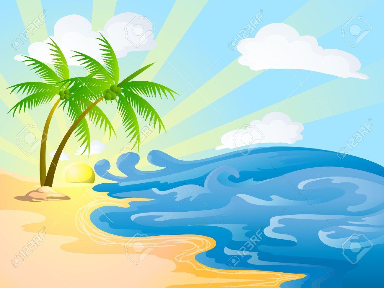 Sunny beach clipart 7 » Clipart Portal.